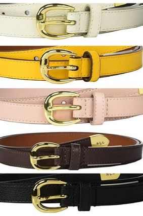 Casual Style Leather Belts