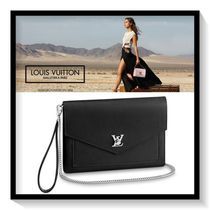 Louis Vuitton MY LOCKME  Calfskin Blended Fabrics Plain Pouches & Cosmetic Bags
