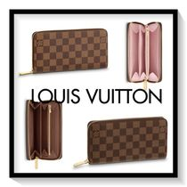 Louis Vuitton ZIPPY WALLET Other Check Patterns Canvas Blended Fabrics Long Wallets