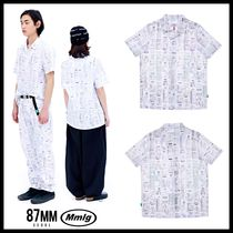 87MM Casual Style Unisex Street Style Shirts & Blouses