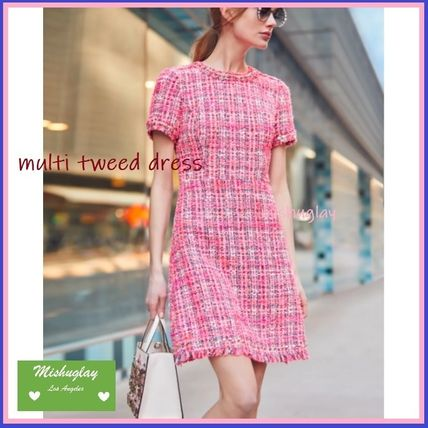 Tweed Elegant Style Dresses