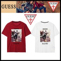 Guess Street Style Short Sleeves T-Shirts
