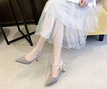 Other Check Patterns Faux Fur Plain Pin Heels Elegant Style
