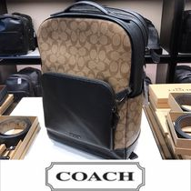 Coach Monogram A4 Leather PVC Clothing Backpacks