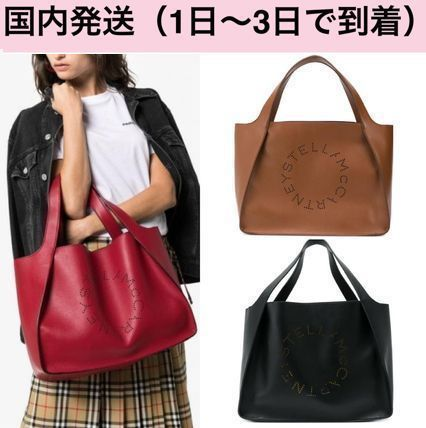 Casual Style Faux Fur Street Style A4 Plain Totes