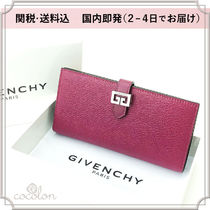 GIVENCHY GV3 Unisex Plain Leather Long Wallets
