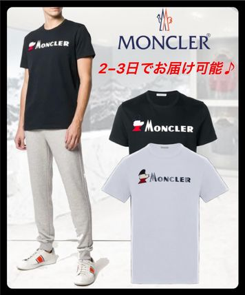 MONCLER More T-Shirts Street Style Plain Cotton Short Sleeves T-Shirts