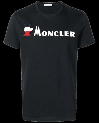 MONCLER More T-Shirts Street Style Plain Cotton Short Sleeves T-Shirts 3