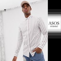 ASOS Button-down Stripes Blended Fabrics Street Style
