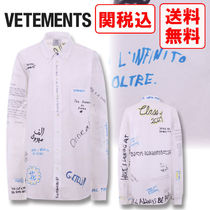 VETEMENTS Unisex Street Style Long Shirts & Blouses