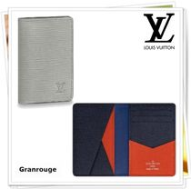 Louis Vuitton EPI Unisex Blended Fabrics Folding Wallets