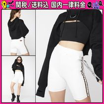 DOLLS KILL Short Casual Style Chain Cotton Denim & Cotton Shorts