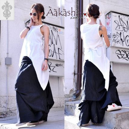 Maxi Linen Plain Long Handmade Maxi Skirts