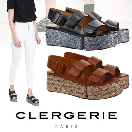 Platform Round Toe Casual Style Blended Fabrics Street Style
