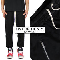HYPER DENIM Street Style Plain Cotton Sarouel Pants