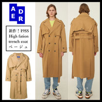 ADERERROR Unisex Plain Long Oversized Trench Coats