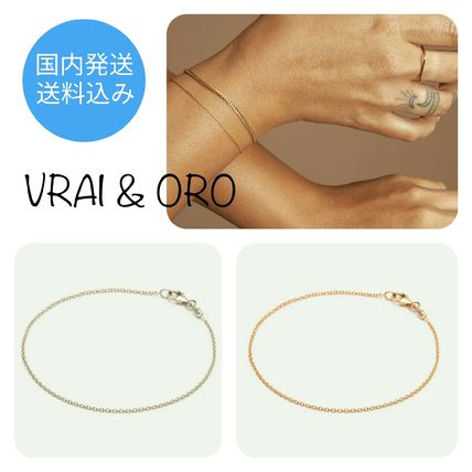 Casual Style Chain 14K Gold Bracelets