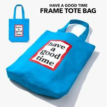 have a good time Unisex Canvas Street Style A4 Plain Totes