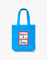 have a good time Unisex Canvas Street Style A4 Plain Logo Totes