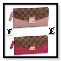 Louis Vuitton Other Check Patterns Canvas Blended Fabrics Long Wallets