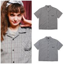 WV PROJECT Other Check Patterns Unisex Street Style Cotton Medium
