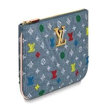 Louis Vuitton MONOGRAM Blended Fabrics Bi-color Leather Pouches & Cosmetic Bags