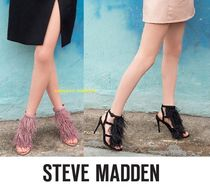 Steve Madden Open Toe Plain Leather Pin Heels Party Style Heeled Sandals