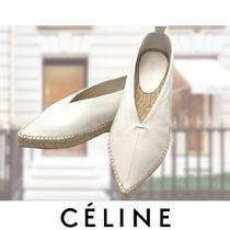 CELINE Casual Style Street Style Plain Leather Shoes