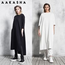 Aakasha Cropped Plain Cotton Long Handmade Tunics