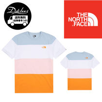 THE NORTH FACE WHITE LABEL Crew Neck Unisex Street Style Cotton Short Sleeves Oversized