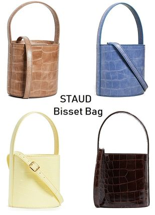 2WAY Plain Leather Shoulder Bags