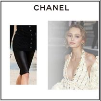 CHANEL Casual Style Plain Medium Skinny Pants