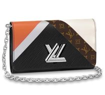 Louis Vuitton TWIST Monogram Blended Fabrics 2WAY Chain Leather Shoulder Bags