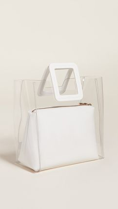 Blended Fabrics Leather Crystal Clear Bags Handbags