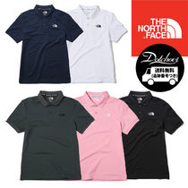 THE NORTH FACE WHITE LABEL Unisex Henry Neck Street Style Plain Short Sleeves