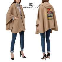 Burberry Wool Plain Medium Ponchos & Capes