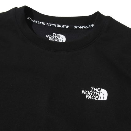 THE NORTH FACE Crew Neck Crew Neck Flower Patterns Unisex Street Style Plain Cotton 5