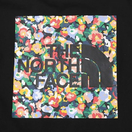 THE NORTH FACE Crew Neck Crew Neck Flower Patterns Unisex Street Style Plain Cotton 7