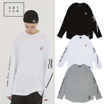 ROMANTIC CROWN Crew Neck Pullovers Unisex Street Style Collaboration