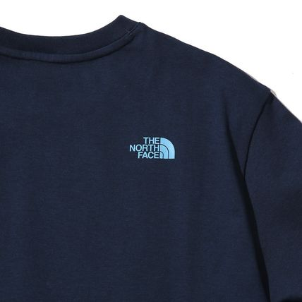 THE NORTH FACE Crew Neck Crew Neck Unisex Street Style Plain Cotton Short Sleeves 5