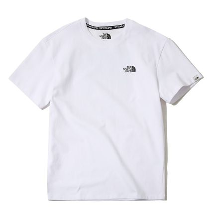 THE NORTH FACE Crew Neck Crew Neck Unisex Street Style Plain Cotton Short Sleeves 10