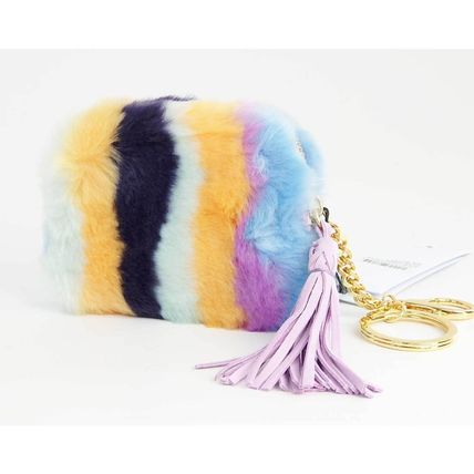 Stripes Fur Fringes Coin Purses
