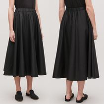 COS Flared Skirts Casual Style Plain Cotton Long Maxi Skirts