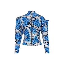 Louis Vuitton Flower Patterns Blended Fabrics Bi-color Long Sleeves Tops