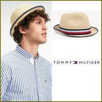 Tommy Hilfiger Unisex Straw Boaters Straw Hats