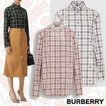 Burberry Tartan Casual Style Long Sleeves Other Animal Patterns