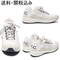 A.P.C. Round Toe Casual Style Suede Low-Top Sneakers