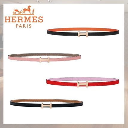 Plain Leather Elegant Style Belts
