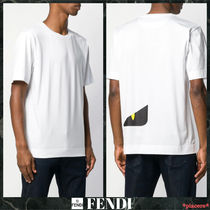 FENDI Street Style Cotton Short Sleeves T-Shirts