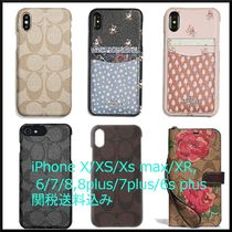 Coach SIGNATURE Flower Patterns Monogram Unisex Khaki Smart Phone Cases